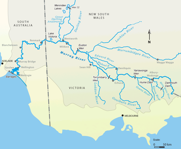Map Of Australia Murray River.Where Does The Murray River Start